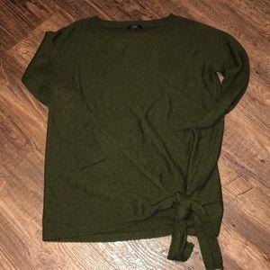 J Crew Tie Waist Boatneck Sweater